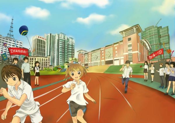 校园运动会用的丙烯酸球场是怎么做的?